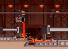 钢铁生产平的构成 皇族释放例证