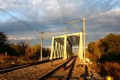 钢铁路桥 免版税库存图片