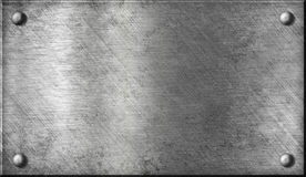 钢铝金属片的铆钉 库存照片