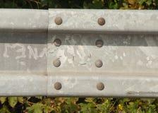 钢防撞护栏 免版税图库摄影