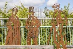钢雕塑 库存照片