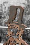 钢雕塑 库存图片
