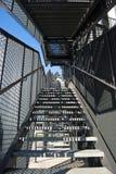 钢黑色的台阶 免版税图库摄影