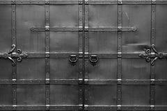 钢黑门 对称和 免版税库存图片