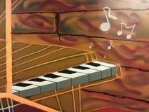 钢琴作用 库存照片
