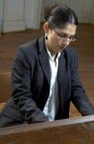 钢琴扮演教师 免版税库存图片