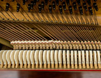 钢琴机制 免版税库存图片