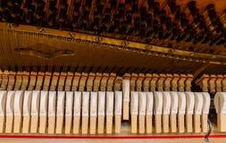 钢琴机制 库存图片