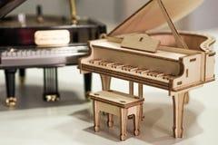钢琴模型 免版税库存图片