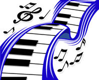 钢琴波浪 库存照片