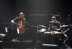 钢琴流行音乐Zade Dirani在巴林, 2/10/12执行 库存照片