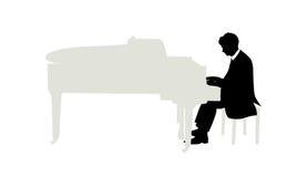 钢琴演奏家 图库摄影
