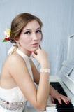 钢琴演奏家 免版税库存图片
