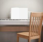 钢琴灰色背景奶油 木橡木 库存图片