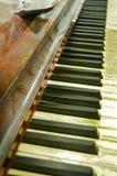 钢琴特写镜头;修道院路演播室,伦敦 库存照片