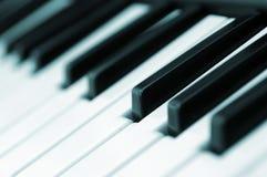 钢琴锁上对角线 库存图片