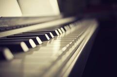 钢琴特写镜头 免版税库存图片
