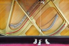 钢琴的底部 免版税库存照片
