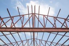 钢建筑框架 库存图片