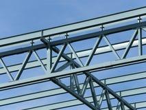 钢建筑框架 免版税库存照片