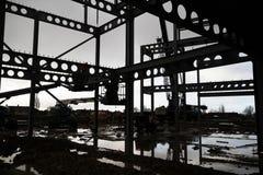 钢建筑结构框架 免版税图库摄影