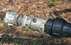 钢水管 免版税库存图片