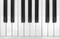 钢琴钥匙特写镜头视图  库存图片