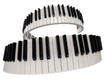 钢琴钥匙(包括的裁减路线) 免版税库存图片