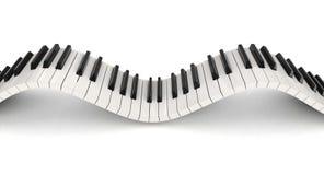钢琴钥匙(包括的裁减路线) 库存照片