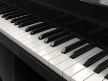 钢琴钥匙 免版税库存照片