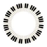 钢琴锁上圈子, 3d 免版税库存图片