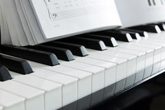 钢琴音乐 免版税库存照片