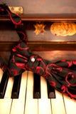 钢琴领带 库存照片