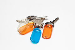 钥匙串与颜色标记的 图库摄影