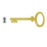 钥匙和匙孔传染媒介, 免版税库存图片