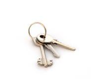 钥匙圈三 库存图片