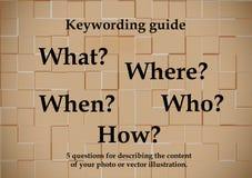 钥匙字词指南 向量例证