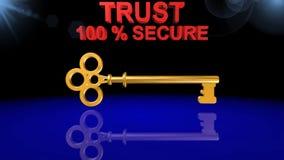 钥匙,象,标志,最佳的3D例证 皇族释放例证