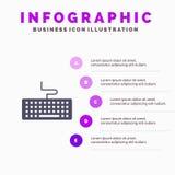 钥匙,键盘,硬件,教育Infographics介绍模板 5步介绍 皇族释放例证