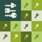 钥匙-绿色口气 库存照片