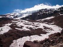 钦博拉索山的看法 免版税库存照片