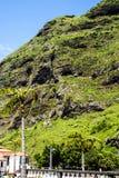 钦琼特佩克火山山在马德拉岛葡萄牙的海岛上的 免版税库存照片