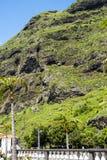 钦琼特佩克火山山在马德拉岛葡萄牙的海岛上的 免版税库存图片