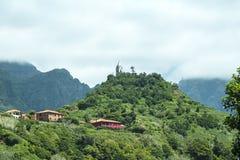 钦琼特佩克火山山在马德拉岛葡萄牙的海岛上的 库存照片