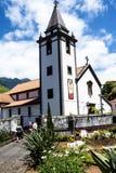 钦琼特佩克火山教区教堂在马德拉岛葡萄牙的海岛上的 图库摄影