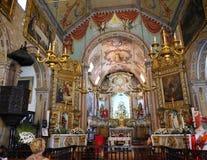 钦琼特佩克火山教区教堂在马德拉岛葡萄牙的海岛上的 免版税库存图片