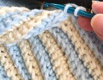 钩编编织物与毛线 库存图片