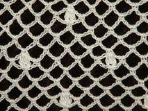 钩编编织物白色 库存照片