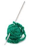 钩编编织物的编织针线程数 库存图片
