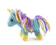 钩针编织的amigurumi玩具 库存照片